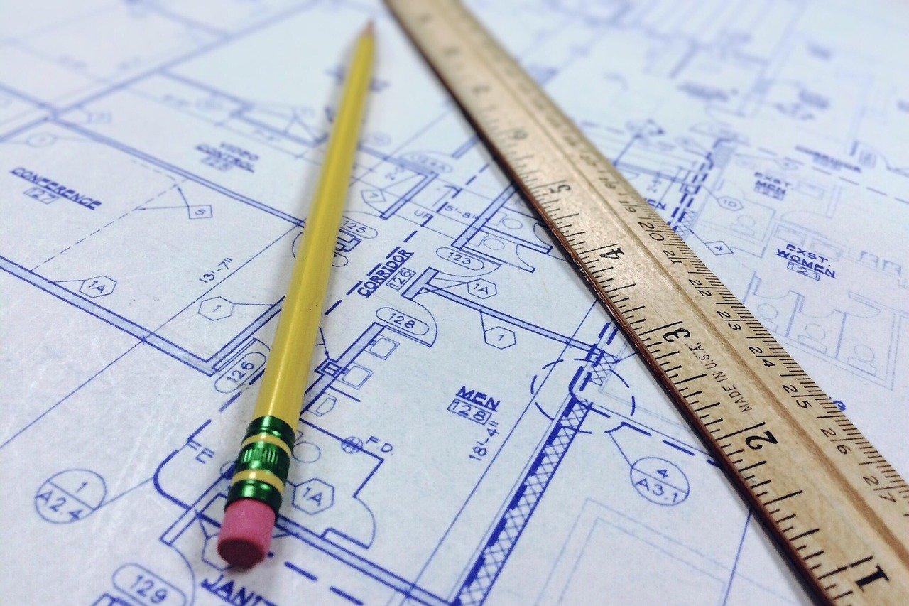 blueprint, ruler, architecture